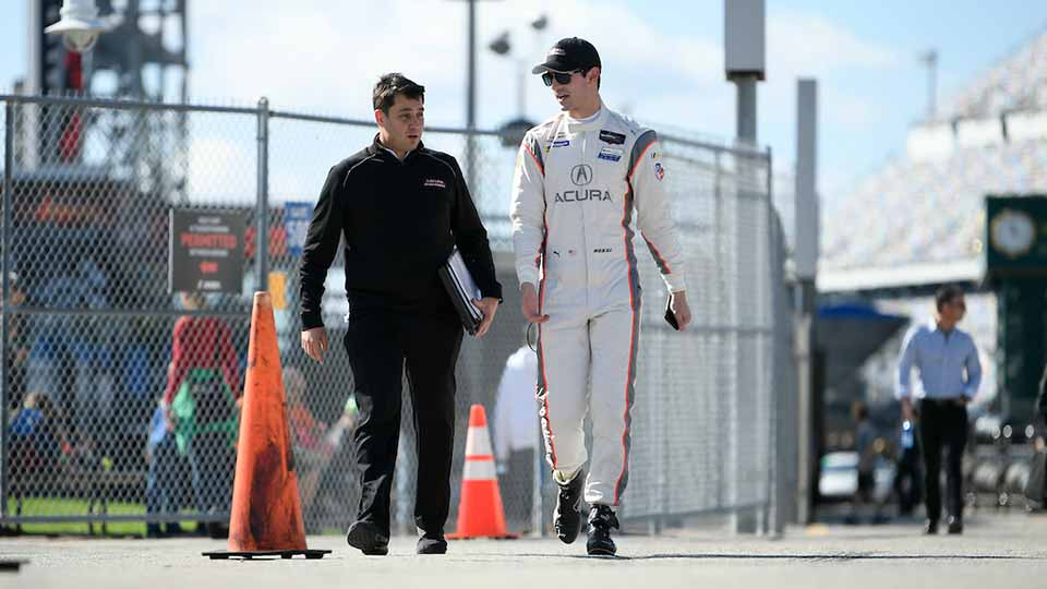 Alexander Rossi at the Rolex 24 at Daytona