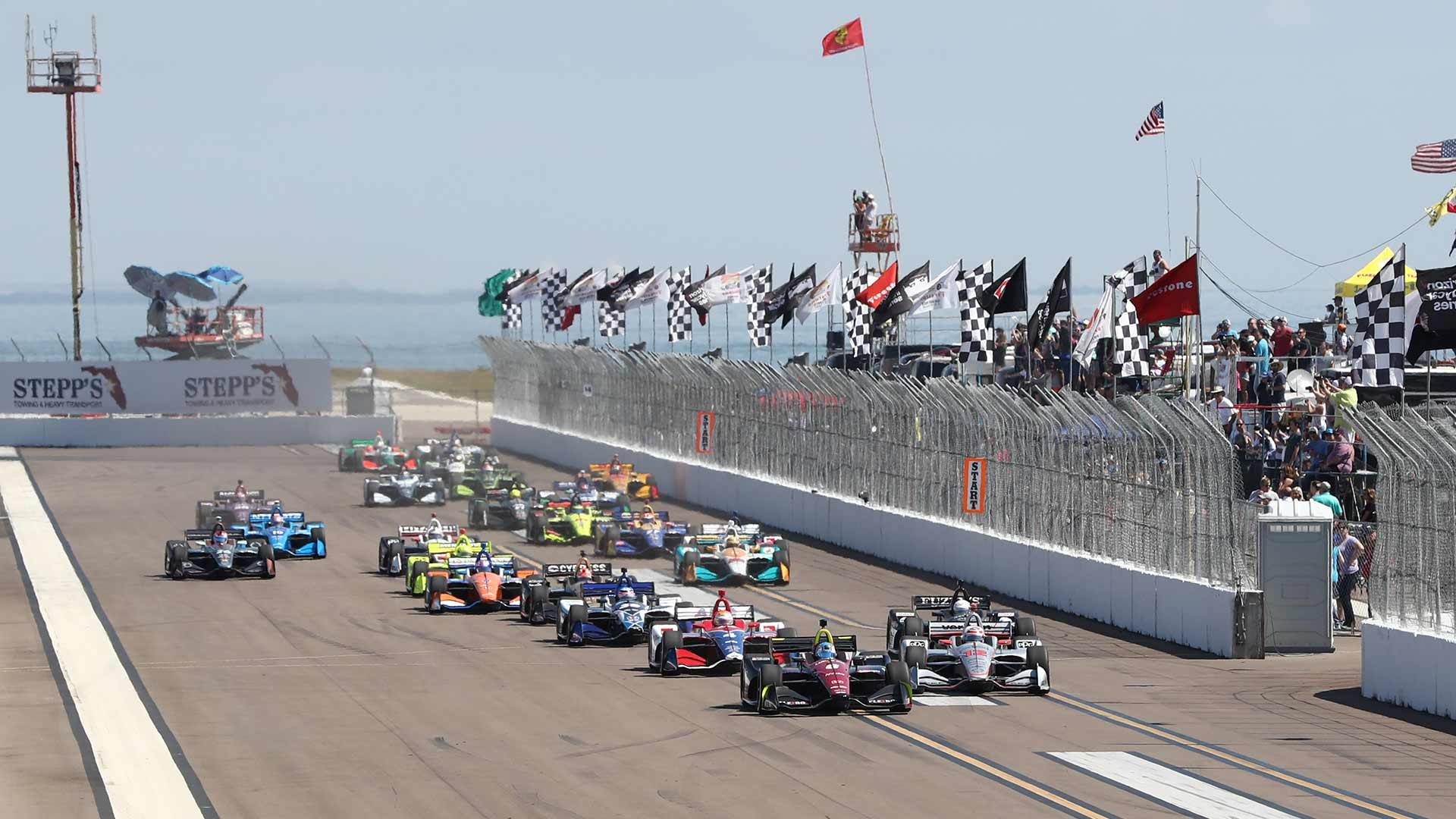 Green Flag at the 2018 Firestone Grand Prix of St. Petersburg