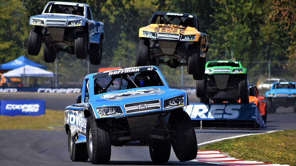 Stadium Super Trucks on track at the Grand Prix of Portland