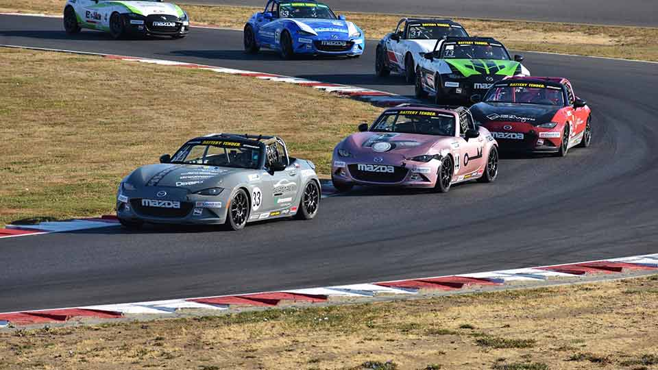 MX-5 Cup races around Portland International Raceway