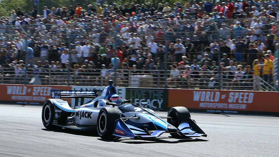 Takuma Sato on track at the Grand Prix of Porltand