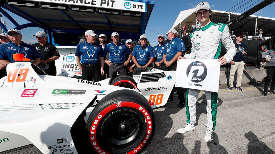 Colton Herta Qualifies in 1st at the Grand Prix of Portland