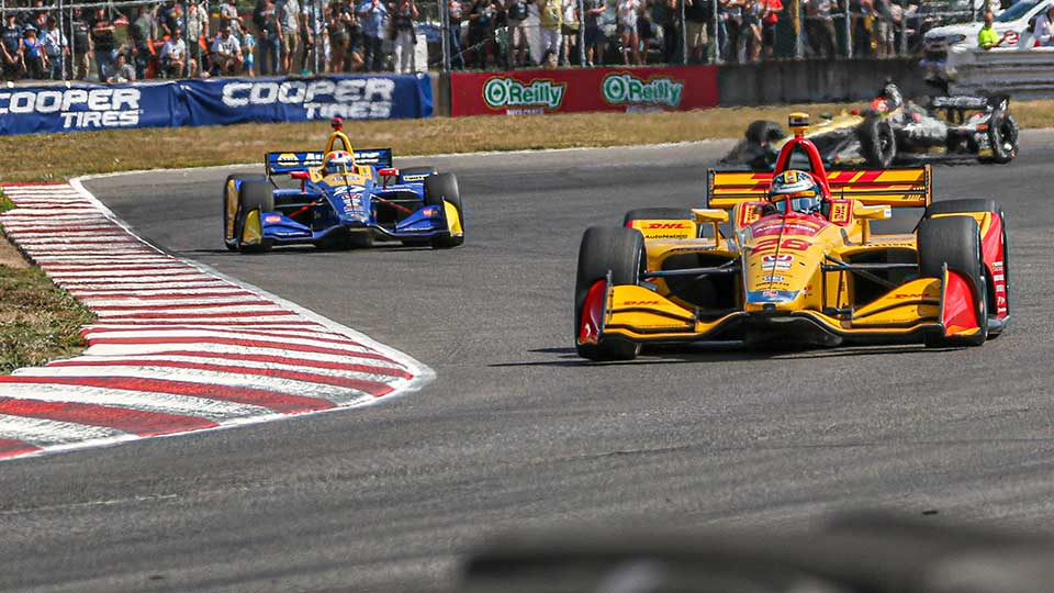 Indy Cars on track at the Grand Prix of Portland