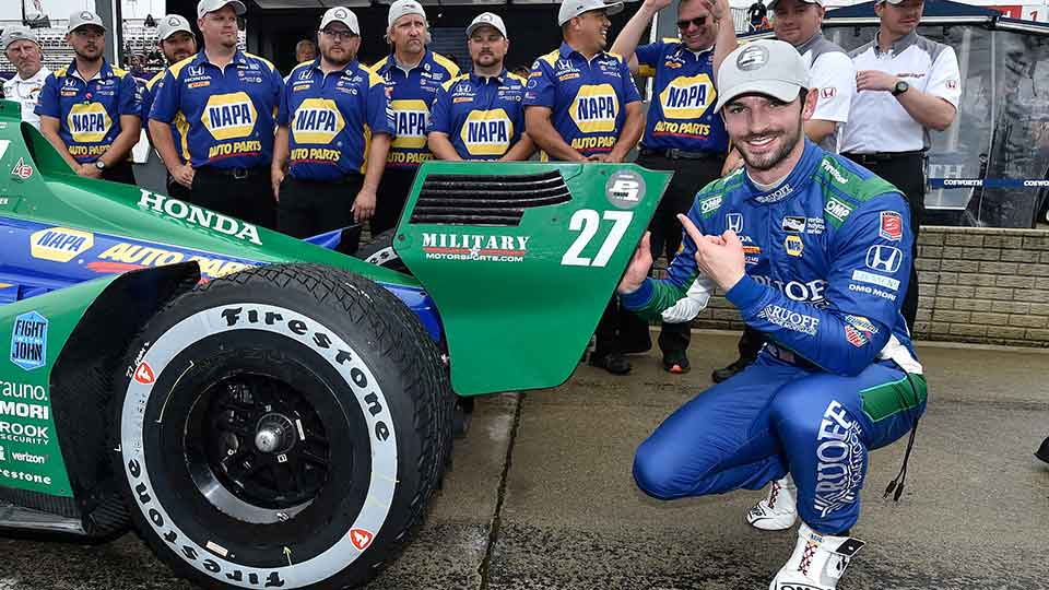 Alexander Rossi on Pole for Race 2 in Detroit